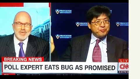 Sam Wang Eats Live Bug To Fulfill Promise If Trump Wins (Video)