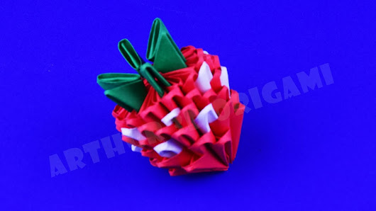 How To Make A Strawberry Of Paper 3D Origami Tutorial DIY Own Hands
