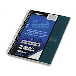 Five Star 06180 Wirebound Notebook- College Rule- 6 x 9-1/2- WE- 100 Sheets/Pad
