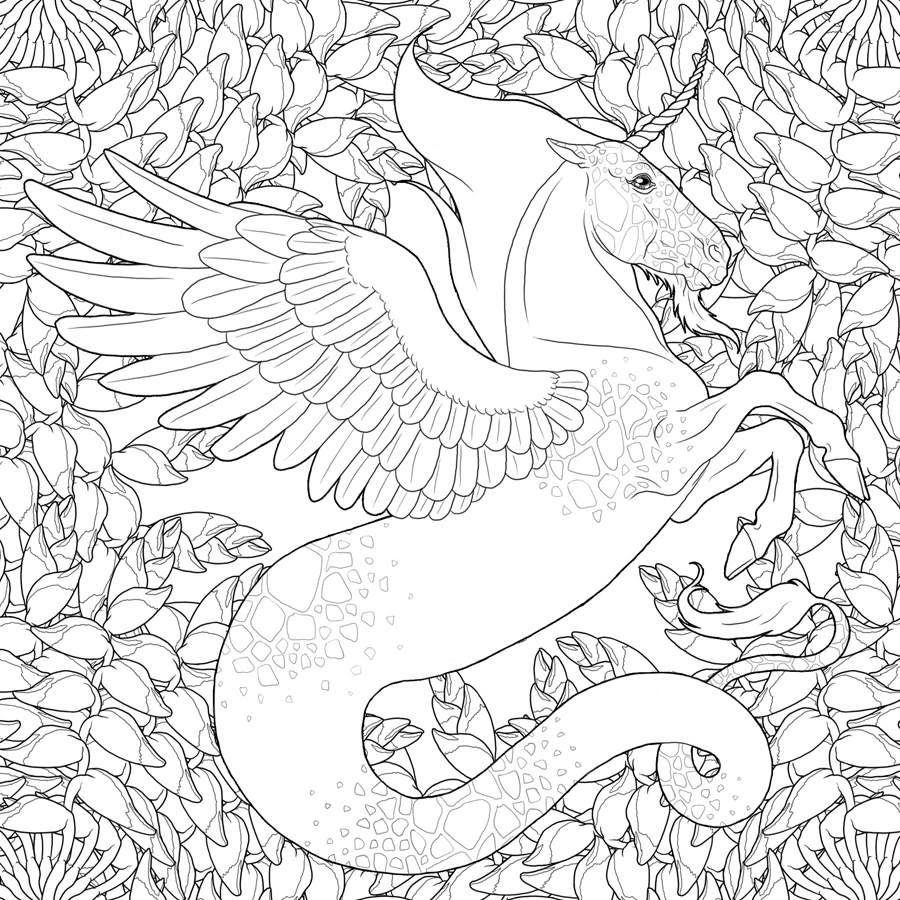 Coloriage Art Thérapie Licorne