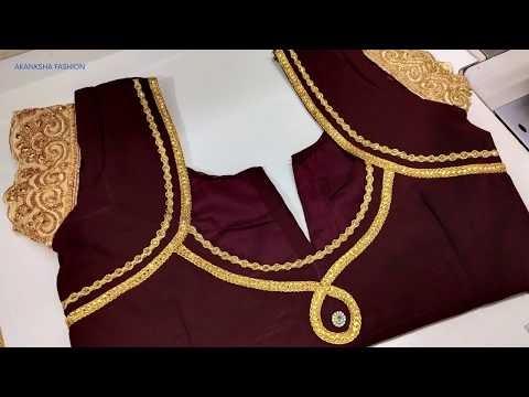 beautiful blouse design stitching with lace