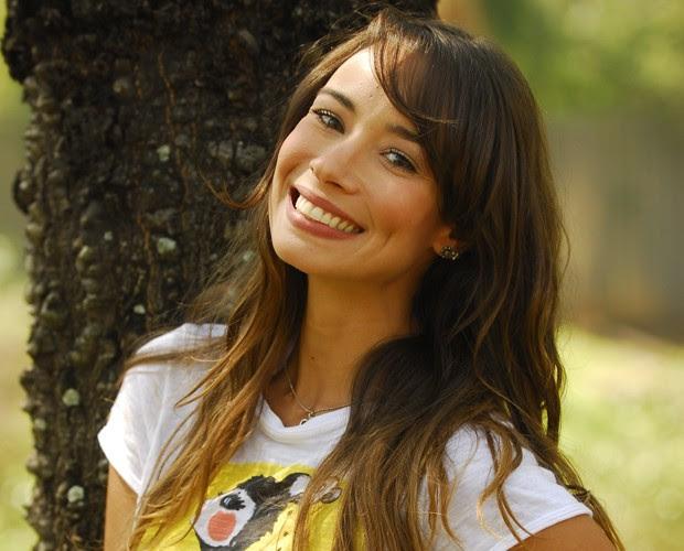 Flávia Rubim como apresentadora da TV Globinho em 2009  (Foto: TV Globo / João Cotta)