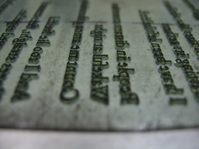 polymer, inked