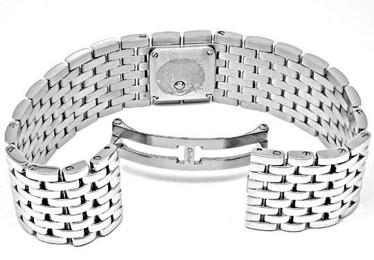 Foto 3, Ungetragene Damen-Uhr Cartier Panthere Ruban, Edelstahl, U1878