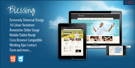 Blessing Responsive ThemeForest HTML5/CSS3 Template - HTML & Others :: Themeforest