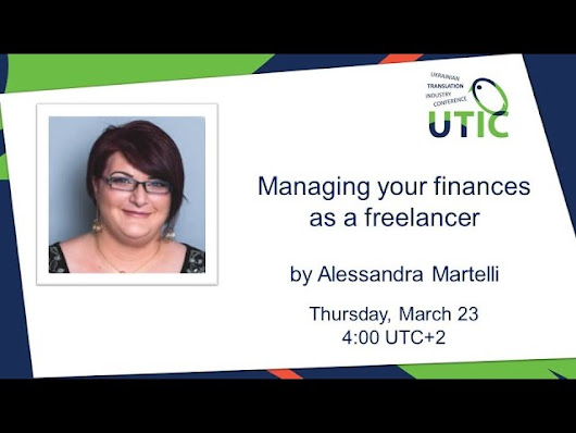 UTIC-2017. Managing your finances as a freelancer. Alessandra Martelli