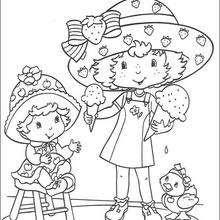 Vinilo Pixerstick Ilustración De Fresa Para Colorear El Libro