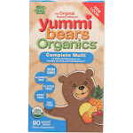 Yummy Bears Organics Multi Vitaminand Mineral - Gummy - Children - 90 Count - PACK OF 2
