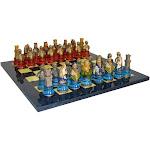 Royal Chess Camelot Busts Acrylic Base Blue Set