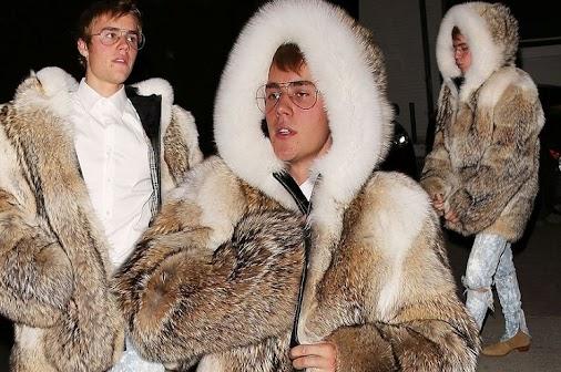 PETA brands Justin Bieber a 'childish showoff' for wearing real fur coat  #celeb #celebrity #entertainment...
