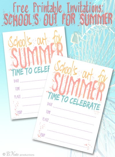 bnute productions  free printable school u0026 39 s out for summer
