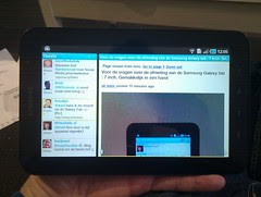 Live preview of @twidroyd on the Galaxy tab lo...