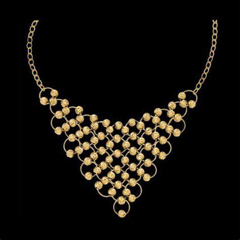 14k Gold Fashion Bib Necklace