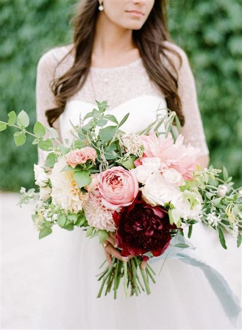30 Burgundy and Blush Fall Wedding Ideas   Deer Pearl Flowers