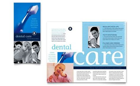 desain brosur pamflet kesehatan  medis elegan  modern