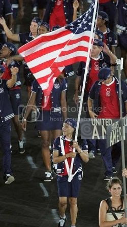 Staley carried the flag in