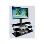 Mount-It! TV Stand Entertainment Center with Mount and Storage Shelves, Fits 32 to 60 inch Screens