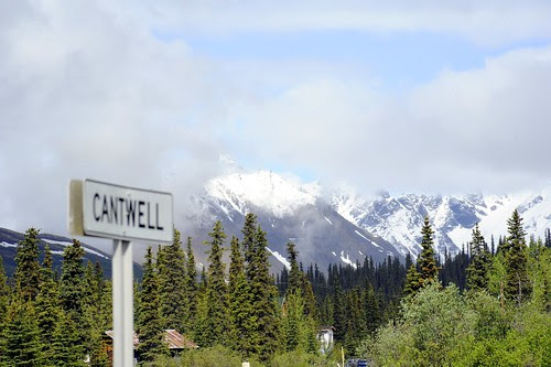 Mountains Behind Cantwell, Alaska by RV Bob