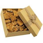 Gourmet Peanut Brittle Yellow Gift Box (16 oz)