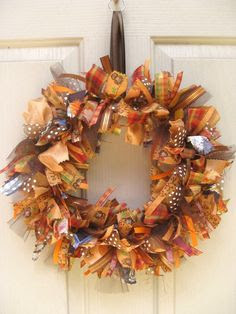 fall ribbon wreath