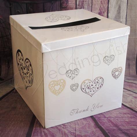 Wedding Silver Hearts Wishing Well Card Box   Wedding Wish