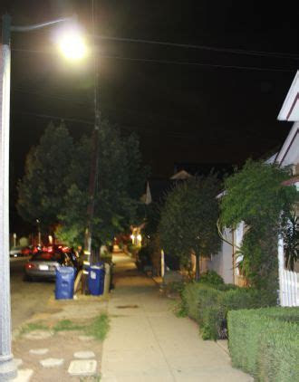 Many of the sidewalks in Santa Barbara?s West Downtown neighborhood are illuminated by 21 foot