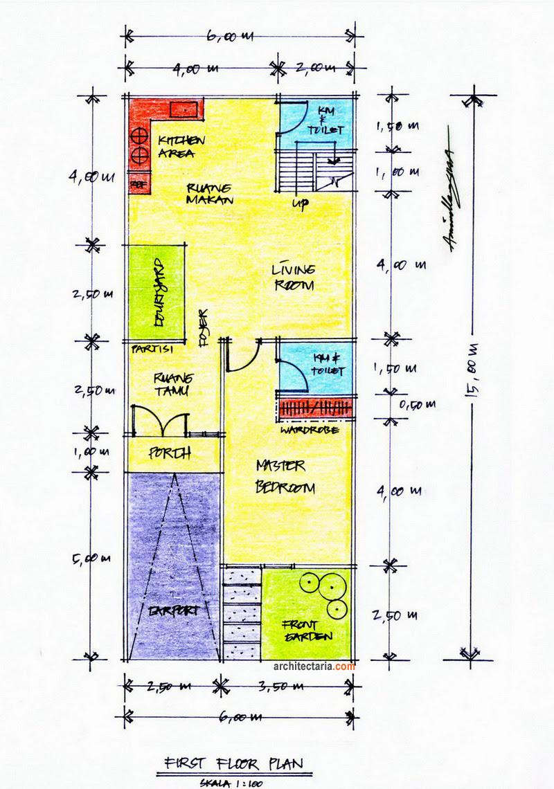Desain Renovasi Dan Pengembangan Rumah Type 45 PT Architectaria