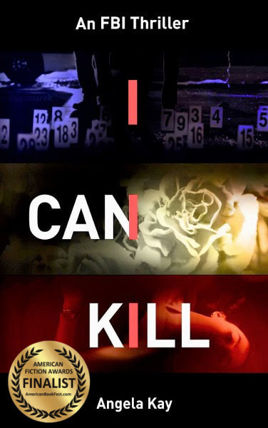 Book Cover for crime thriller / mystery I Can Kill by Angela Kay .