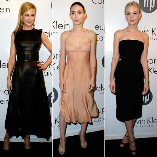 Nicole, Rooney, and Carey Get Minimal at Calvin Klein's Cannes Party