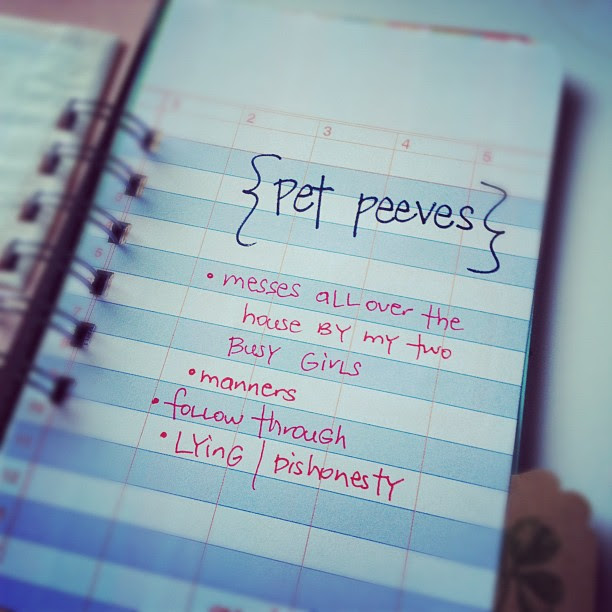 #30daysoflists | Day 16, Pet Peeves