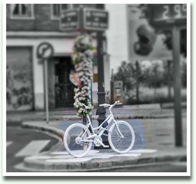 La bicicleta blanca