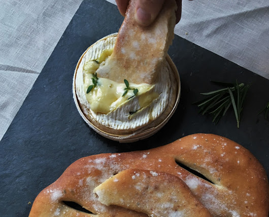 Baked Camembert with Garlic & Rosemary Fougasse
