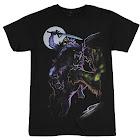 Masters of The Universe Skeletor Riding Panthor Men's T-Shirt He-Man Cartoon Black / Large