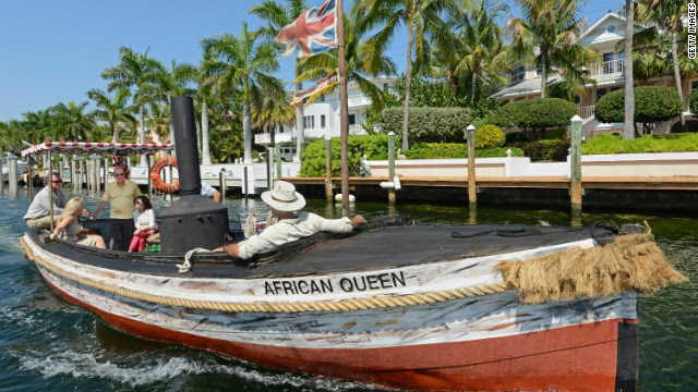 """The """"African Queen"""" is a 100-year-old steam boat famed for its role in the 1951 movie of the same name."""