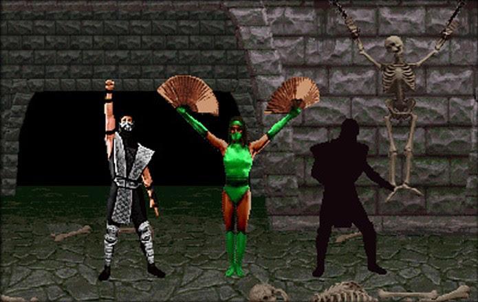 Da esquerda para a direita, Smoke, Jade e Noob Saibot finalmente são desbloqueados (Foto: kamidogu.com)