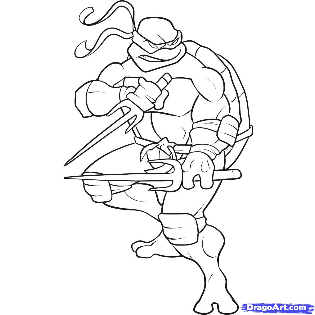 how to draw a ninja turtle step par step characters pop culture