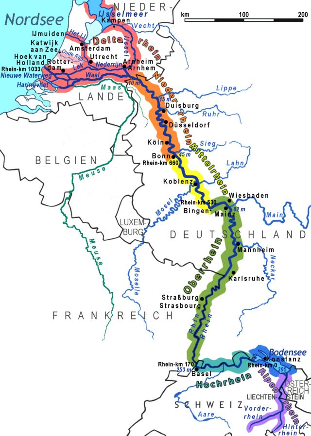 rajna térkép Rajna Folyó Térkép | Térkép