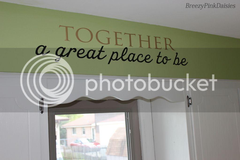 Kitchen Makeover - white cabinets, green walls