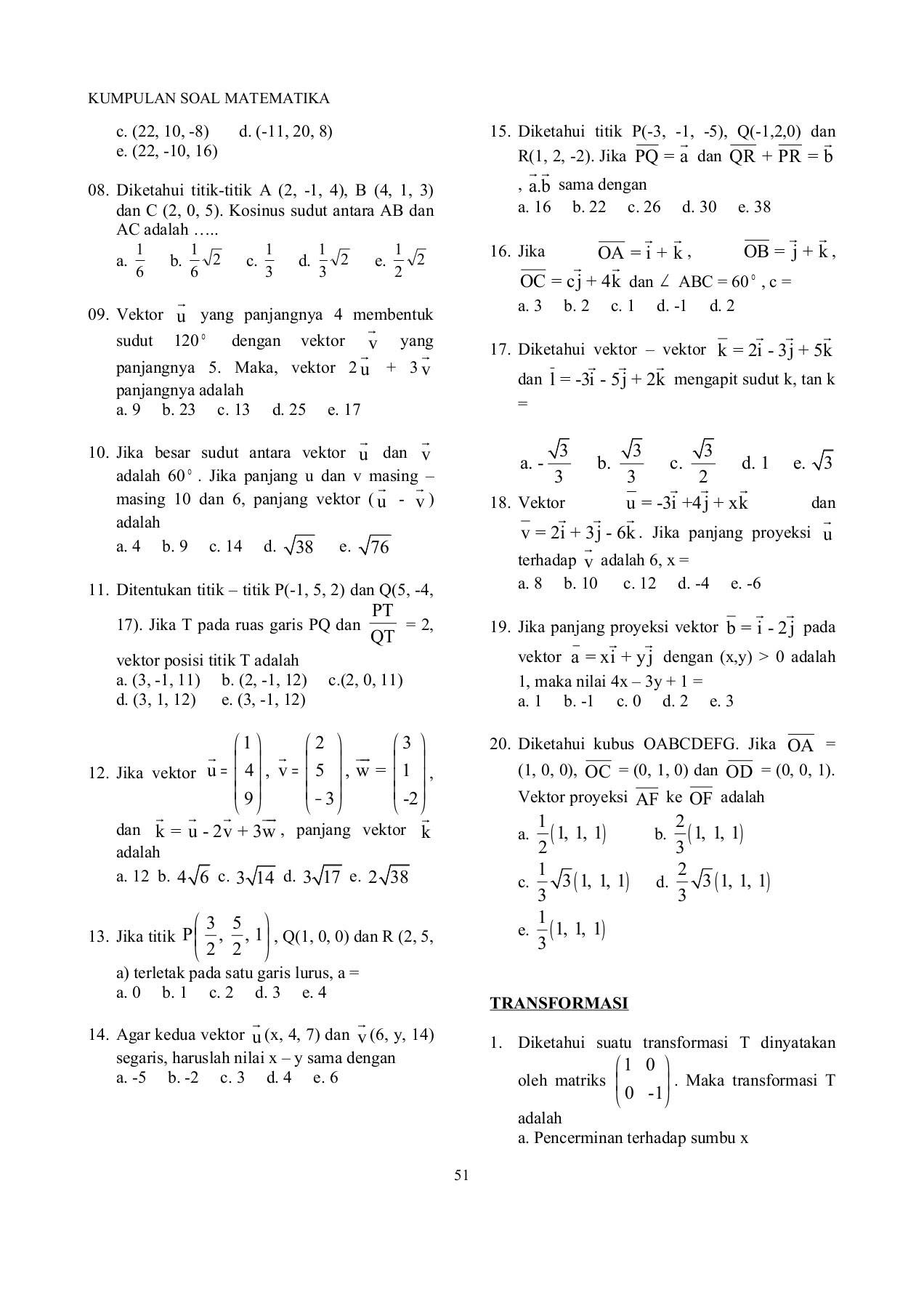 Vektor Matematika Peminatan : vektor, matematika, peminatan, Contoh, Vektor, Matematika, Penyelesaiannya, Kelas, Materi, Pelajaran