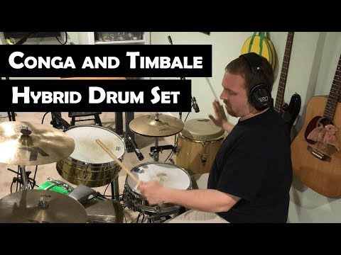 Conga and Timbale With Drum Set Hybrid Setup [Tito Puente Tribute]