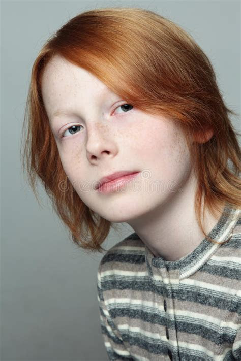 teen boy stock photo image  red casual redhead young