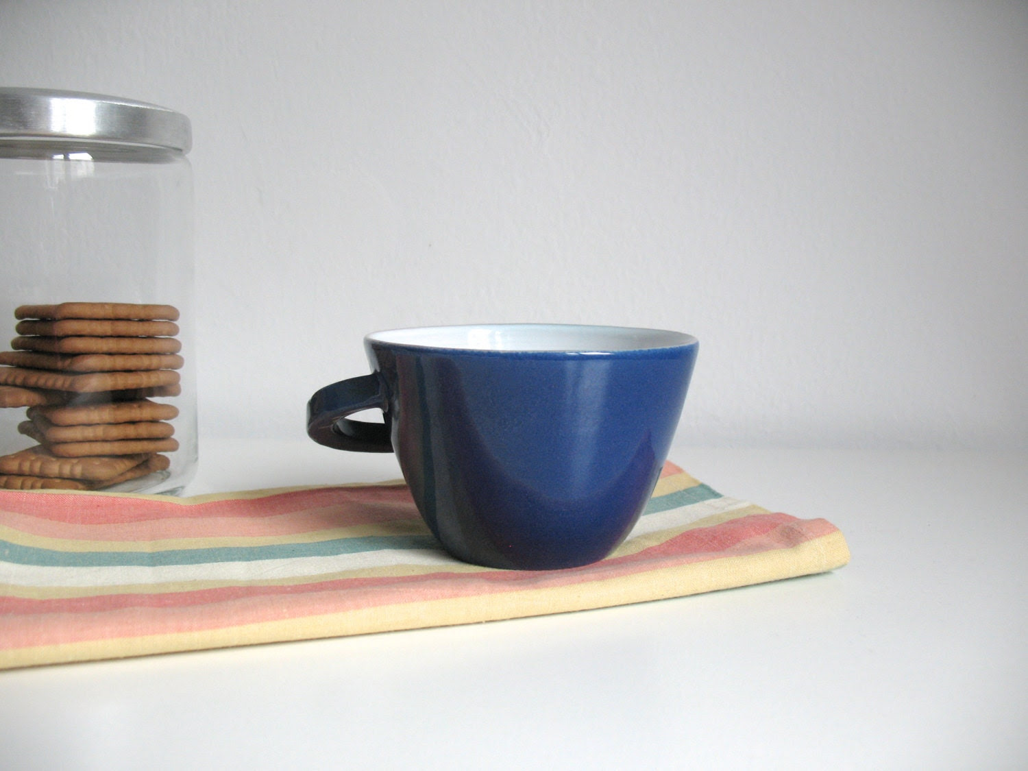 Coffee mug Ocean blue tea cup Ceramic mug Glazed cup Breakfast mug - ready to ship