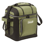 Coleman 15-Quart Soft-Sided Collapsible Cooler - Green