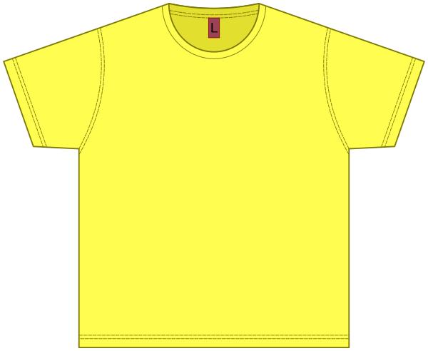 T-shirt blank yellow - /clothes/shirt/T-shirt/T-shirt_blank_yellow ...