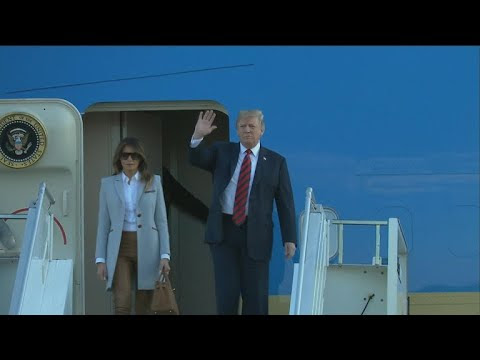 USA President Trump arrives in Finland ahead of Russian President Putin for the summit