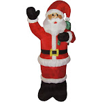 Northlight 8' Animated Inflatable Lighted Standing Santa Claus Christmas Yard Decor