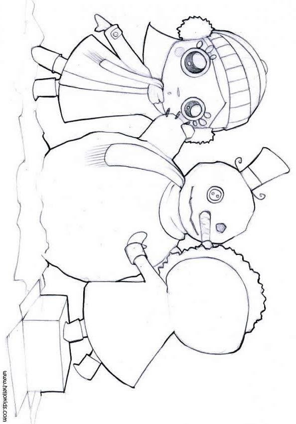 coloring pages for girls 10 and up. girls-make-a-snowman