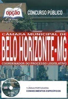 Apostila Câmara de Belo Horizonte MG 2017 Coordenador do Processo Legislativo.
