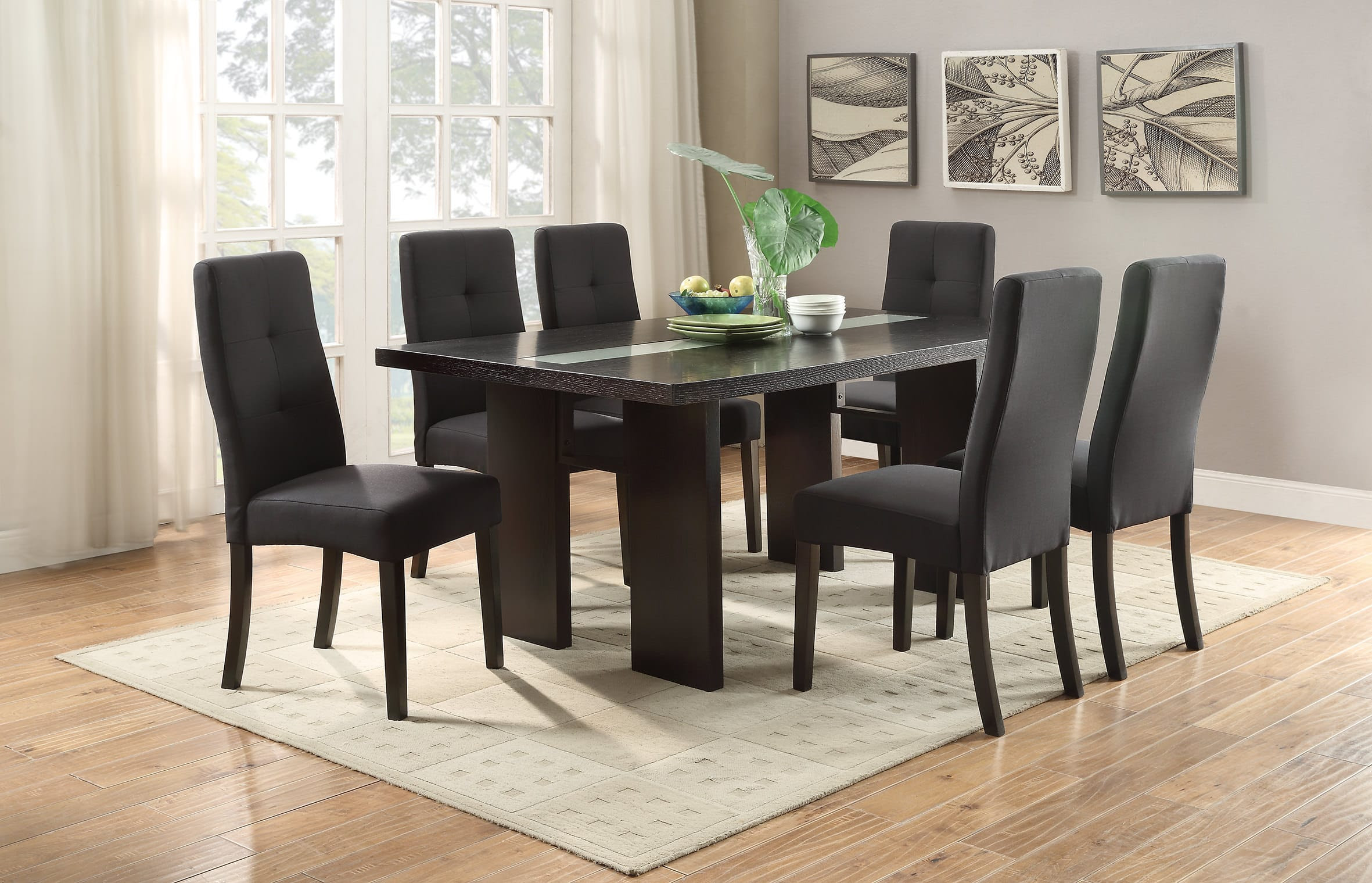 F2367 Espresso Dining Table by Poundex