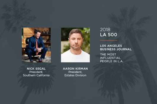 Pacific Union's Nick Segal and Aaron Kirman Named to List of Los...